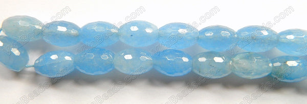 Aquamarine Quartz  -  Faceted Rice  16""