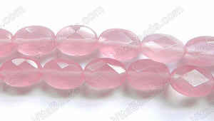 Faceted Oval  -  029 Rosy Silk Chalcedony Qtz  16""
