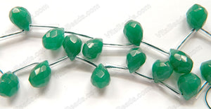 Emerald Quartz - 13x18mm Faceted Teardrop 16""