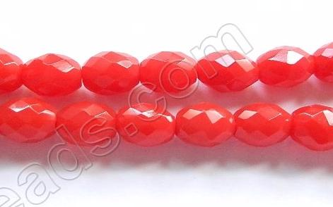 Red Quartz - Faceted Rice  16""