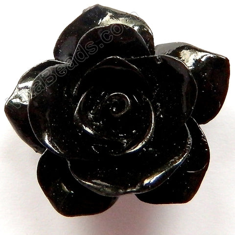 Carved Jasmine Pendent Synthetic Black Qtz