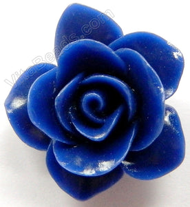 Carved Jasmine Pendent   Synthetic Dark Blue Jade