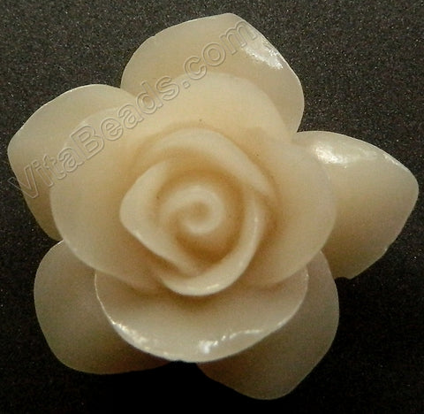 Carved Jasmine Pendent Synthetic Bone