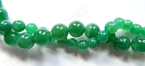Green Onyx   -  Smooth Round  16""