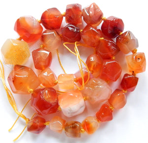 Natural Carnelian - Graduated Smooth Cut 16""