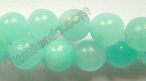 Dyed Peruvian Amazonite  -  Smooth Round Beads  16""