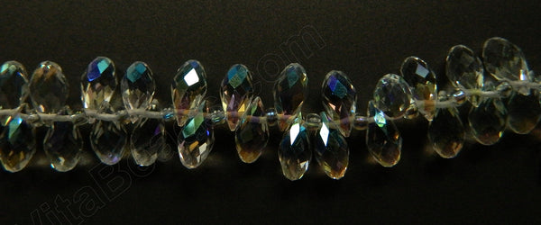Crystal AB - 6x12mm Faceted Long Teardrops 8""