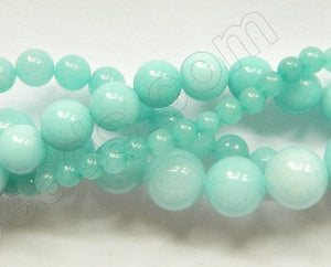 Amazonite Jade  -  Smooth Round  16""