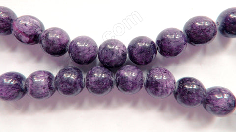 Lepidolite Jade -  Big Smooth Round Beads  16""