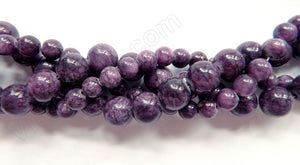Lepidolite Jade - Smooth Round Beads  16""