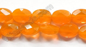 Orange Quartz  -  Faceted Oval  16""