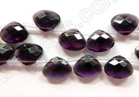 Dark Amethyst Crystal - Faceted Flat Briolette 6""