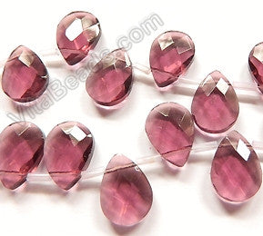 Red Fluorite Crystal - 13x18mm Faceted Flat Briolette 6""