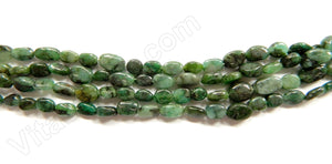 Emeralds Brazil  -  5-7mm Flat Oval 15""