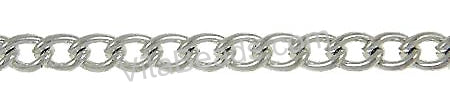 Platinum Plated Brass Twist Oval Chain