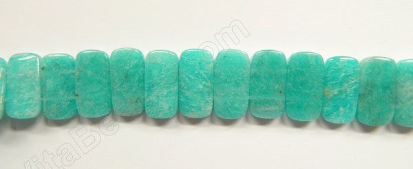 Russia Amazonite Light AA  -  20x10mm Double Drilled Rectangles  16""