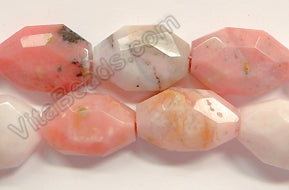 Pink Opal AA  -  Irregular Faceted Flats  16""