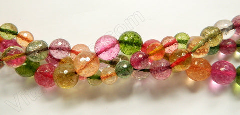 Mixed Explosion Crystal Natural AA - Faceted Round  16""