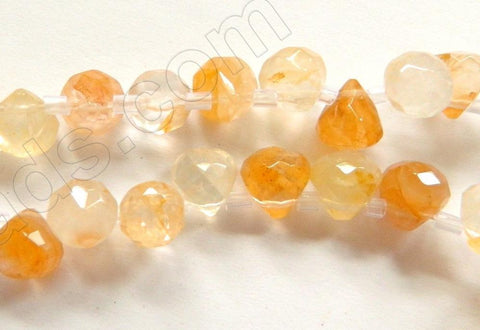 Yellow Quartz Mixed  -  7mm Faceted Teardrops 16""