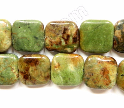 Green Opal  -  Puff Squares  16""