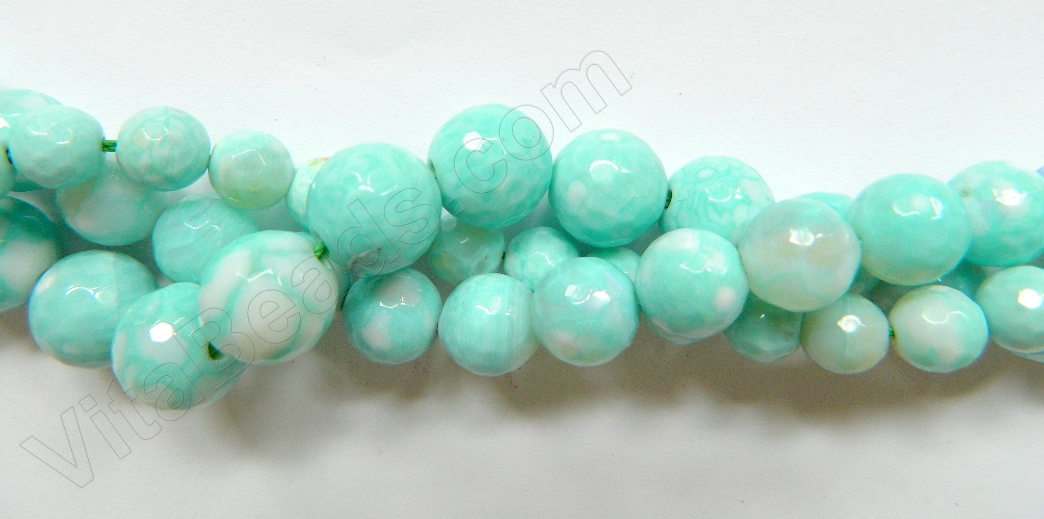 Blue Magic Amazonite AA  -  Faceted Round Beads 16""