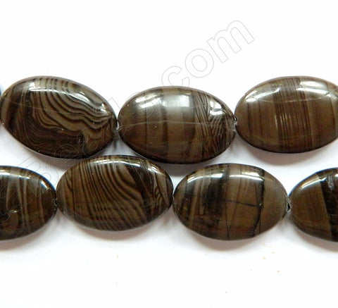Coffee Jasper  -  Big Puff Ovals  16""