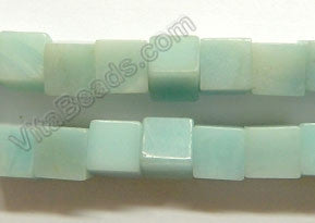 Amazonite AA  -  10mm Big Cubes  16""