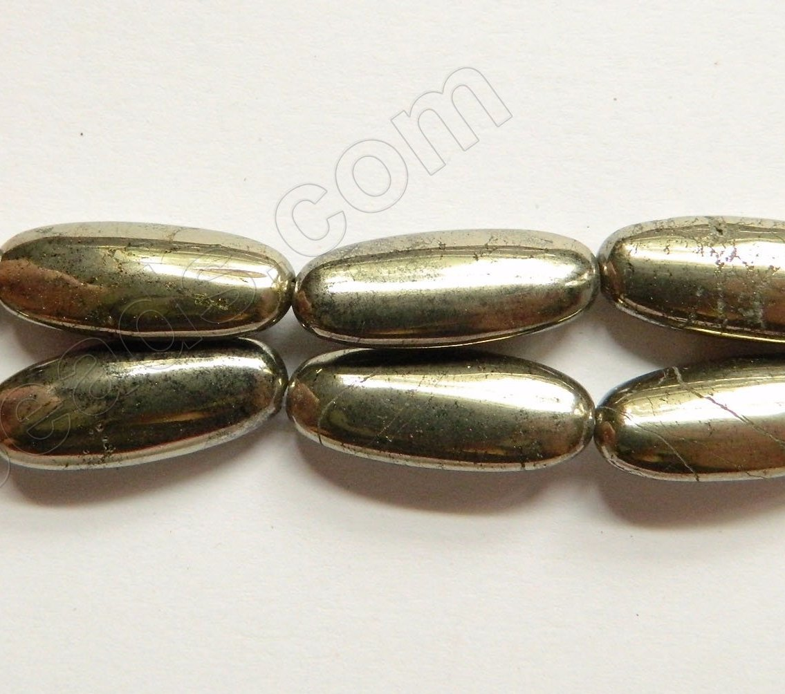 Pyrite AA  -  Puff Long Ovals  16""