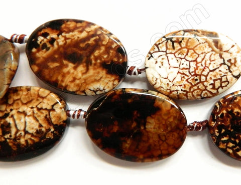 Coffee Fire Agate  -  Big Puff Oval 16""
