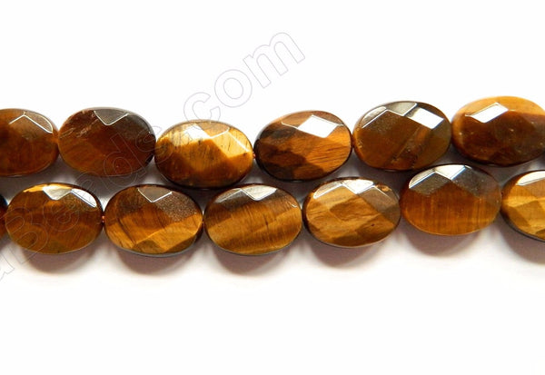 Tiger Eye  -  Faceted Oval  16""