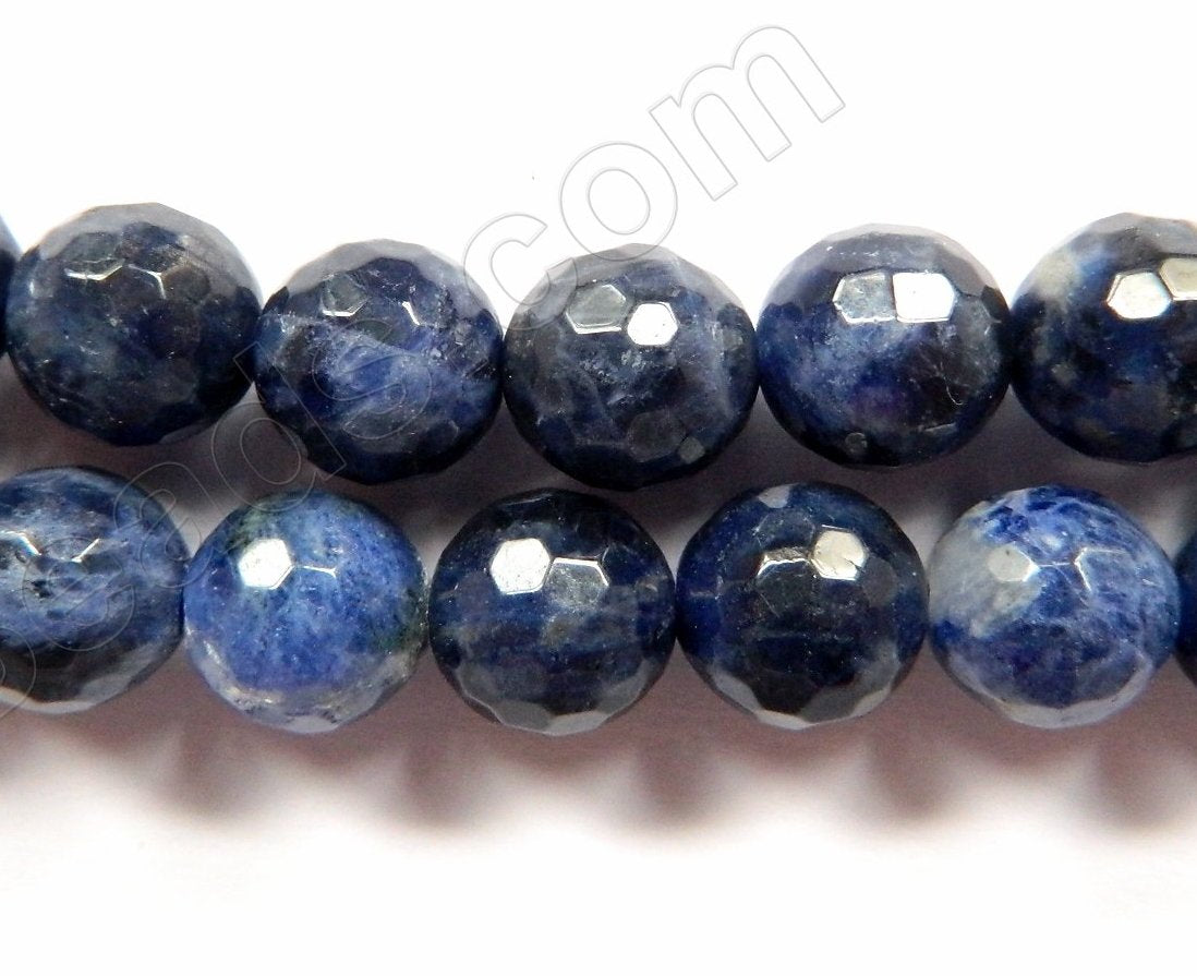 Sodalite AA  -  Faceted Round  16""