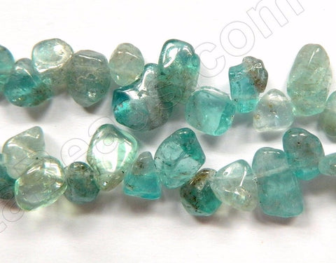 Apatite Light Clear AA  -  Smooth Drop Nuggets 16""