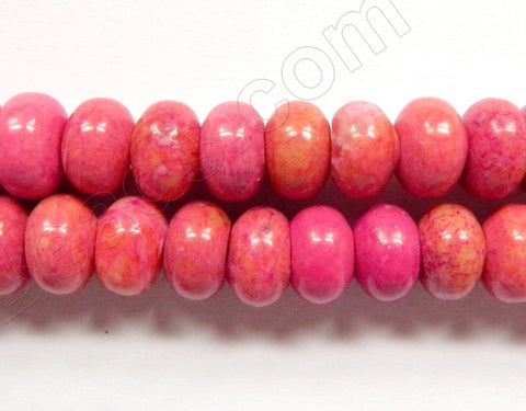"Ruby Turquoise  -  Smooth Rondell 16""     6 x 11 mm"