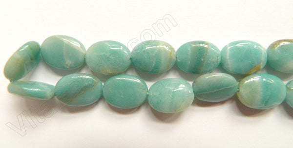 Chinese Amazonite  -  12x16mm Puff Oval 16""