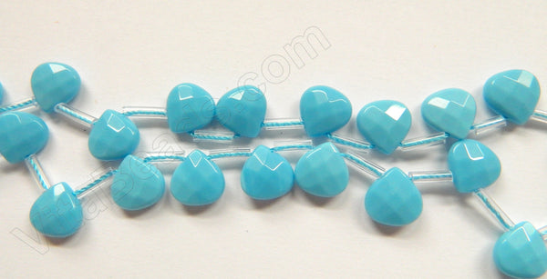 Amazonite Quartz  -  10mm Faceted Flat Briolette  16""
