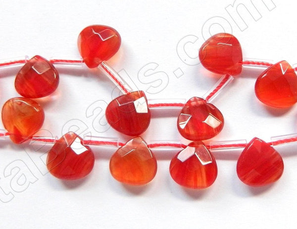 Fire Crystal  -  10mm Faceted Flat Briolette 16""
