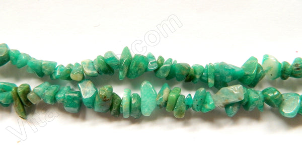 Russia Amazonite  -  8-10mm Chips 36""