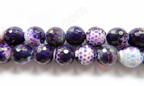 Purple Black Fire Agate  -  Faceted Round 16""