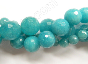 Blue Apatite Quartz  -  Faceted Round