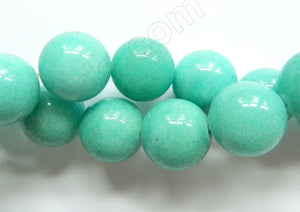 Amazonite Jade  -  Big Smooth Round Beads 16""