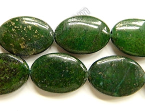 Green Pyrite A  -  Big Puff Ovals  16""