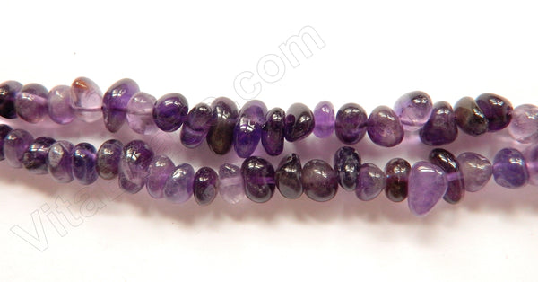 Amethyst Dark  -  8-12mm Small Center Drilled Tumble