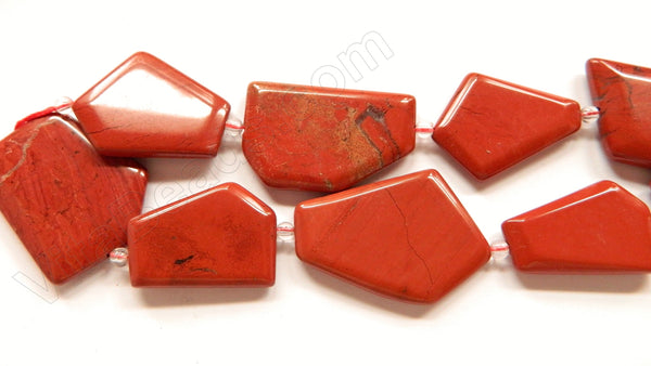 Red Jasper  -  Irregular Faceted Flat  16""