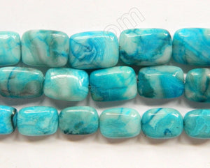 Blue Crazy Lace Agate  -  Puff Smooth Rectangles 16""