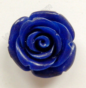 Carved Small Rose Pendent Synthetic Dark Blue Jade