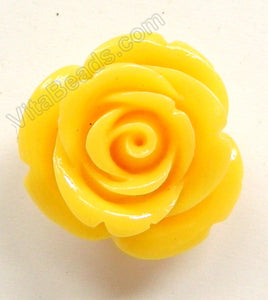 Carved Small Rose Pendent Synthetic Yellow Qtz