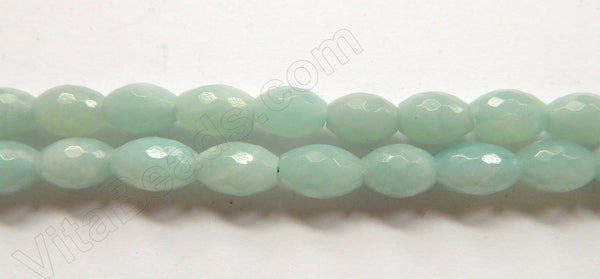 Amazonite AA  -  Faceted Rice  16""