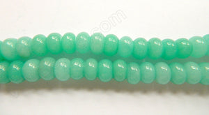 Amazonite Green Jade  -  10mm Smooth Rondels  16""