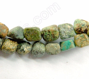 Africa Turquoise Rough  -  5-9mm Small Tumble  16""