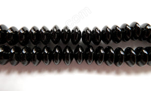 Black Onyx AA  -  Smooth Button, Smooth Rondel  16""